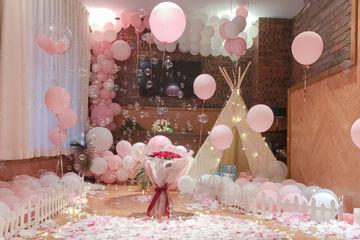 爱在你的全世界停留—— 厦门餐厅粉色系求婚