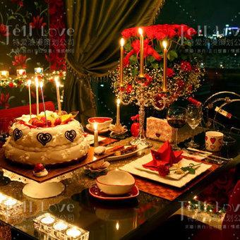 「烈焰玫瑰」·浪漫餐厅/咖啡厅求婚