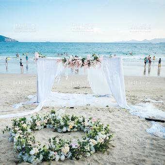 「银色沙滩」沙滩花房表白