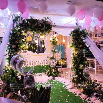 【綠光森林】室內浪漫求婚布置