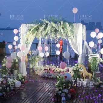 【一鹿相随】露台浪漫求婚布置